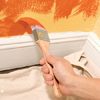 how to paint a color wash step four: cut in the corners and the edges of the area being painted