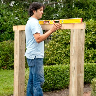 Wrap and Set the Posts to build a garden gate