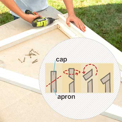 Install the Apron to build a garden gate