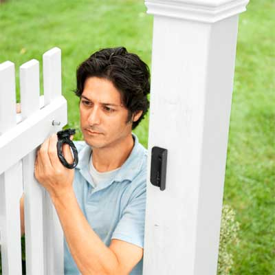 Add the Latch and Stop to build a garden gate