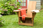 a finished Westport chair in the backyard lawn