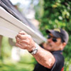 setting the pitch for installing half-round gutters