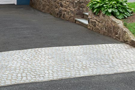 a newly installed driveway apron