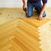 re-fastening the nailing blank to repeat the pattern of a herringbone floor