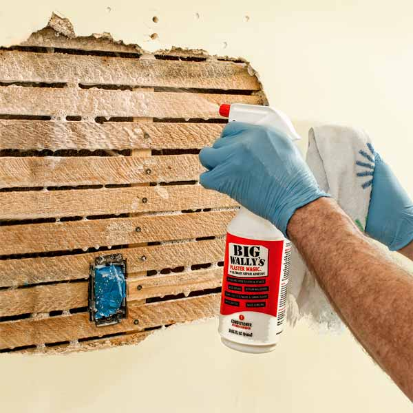 wet the substrate how to repair plaster this old house. Black Bedroom Furniture Sets. Home Design Ideas