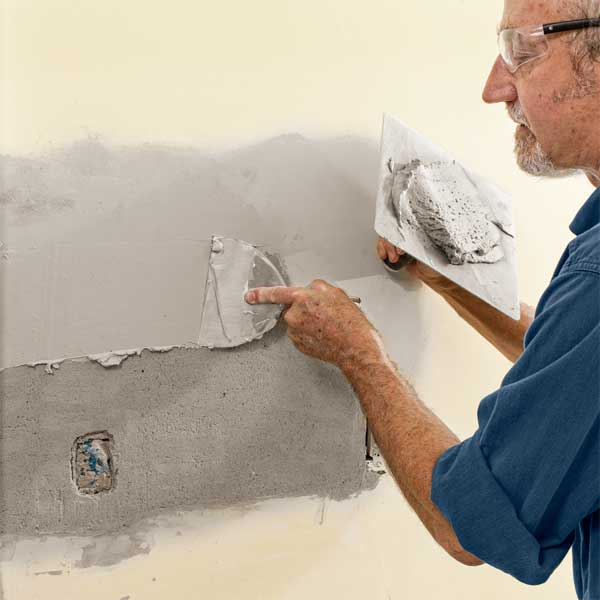 Smooth the Top Coat  to repair plaster