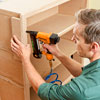 attaching the face frame of a columned room divider