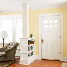 a columned room divider