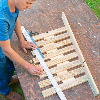 Trim Balusters to Length To Build a Decorative Driveway Marker