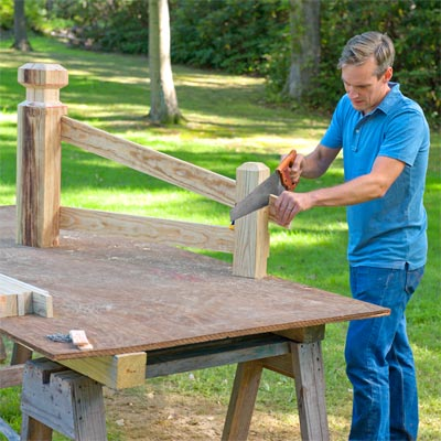 Build the frame: Attach the Remaining Rails to Build a Decorative Driveway Marker