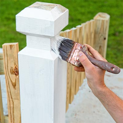 Paint the Piece to Build a Decorative Driveway Marker