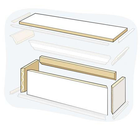 Build the Frame for how to to Build a Window Cornice