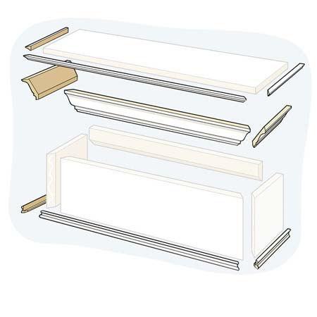 Attach the Molding for how to to Build a Window Cornice