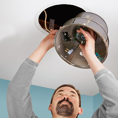 step by step how to install a bigger bathroom fan remove old fan