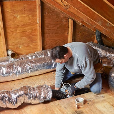 step by step how to install a bigger bathroom fan attach the duct