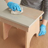 give look a sunbleached look wipe off leftover wood stain and let dry