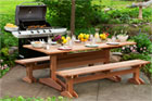 Completed picnic table and benches