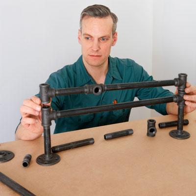assembling the base rung