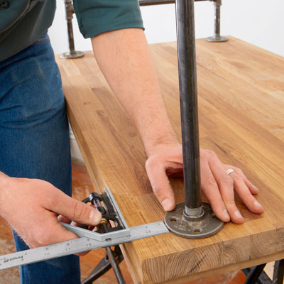 aligning the flanges