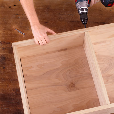 adding a shelf to the inside of the cabinet