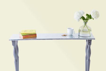 Fabricate a zinc table top
