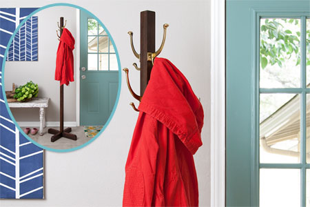 How To Make A Standing Coat Rack Out Of Wood