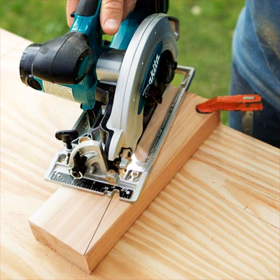 Make the Angled Cuts to build a compost bench