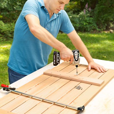 Assemble the Seat Slats to build a compost bench