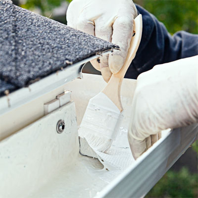 Seal the Joints when installing fiberglass gutters