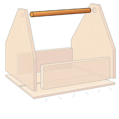 Fit the Handle when building a  Garden-Tool Tote