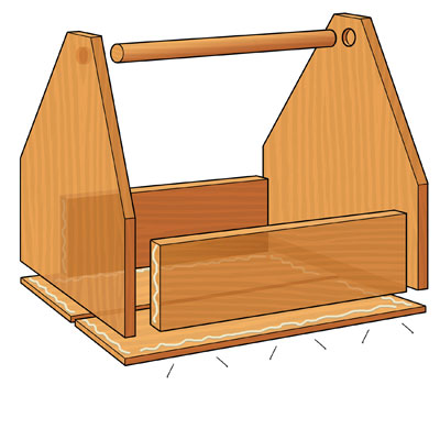 Finish the Box when building a  Garden-Tool Tote