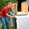 assembling the three sides of a rain barrel container box
