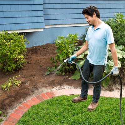 hose off the edging how to edge a garden bed with brick. Black Bedroom Furniture Sets. Home Design Ideas