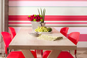 multi-striped painted wall