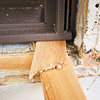 adjust the unit by inserting shims under the sill and behind the side jambs until it is centered in the space and opens, closes, and locks smoothly