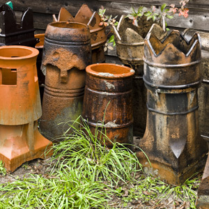 antique English chimney pots