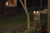 Transform an Old Chimney Pot Into a Garden Light