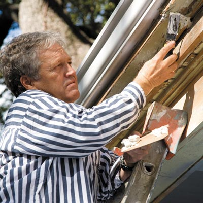 fill minor cracks and dents, repair any rot, and replace any pieces that are too far gone
