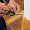 Marking miter-cut on cap rails