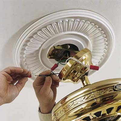 Connecting the wires of a ceiling fan