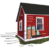 hanging clapboard siding