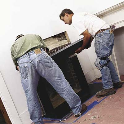 rebuilding a fireplace