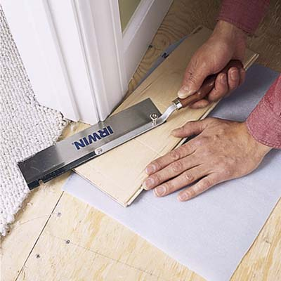 Trim The Door Casings How To Install A Floating