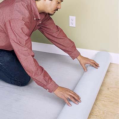 Unrolling foam underlay