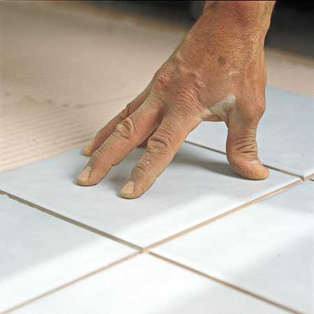 setting a tile