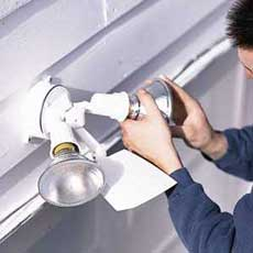 Connect The Conduit How To Install A Garage Floodlight