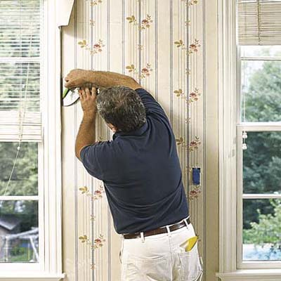 Trim around windows and doors how to hang wallpaper - Wallpapering around a curved corner ...