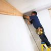 installing the first length of crown molding