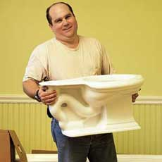 installing a toilet tout