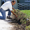 Burying the electrical cables for landscape lighting